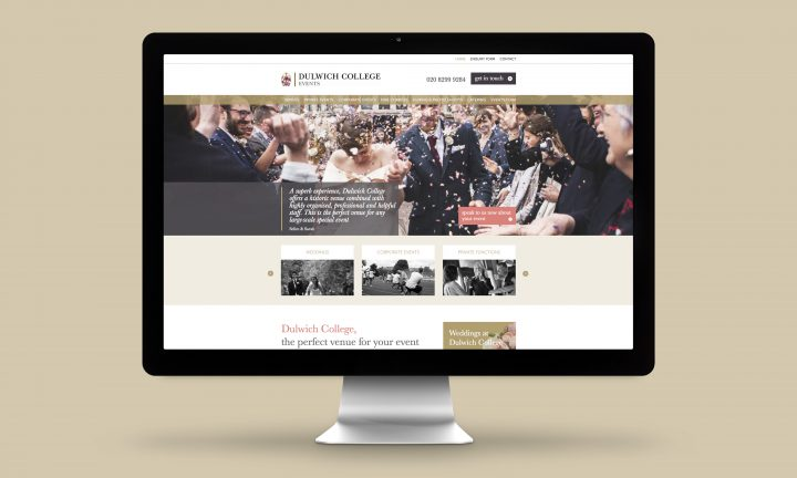 Dulwich College Events Website Design Home page