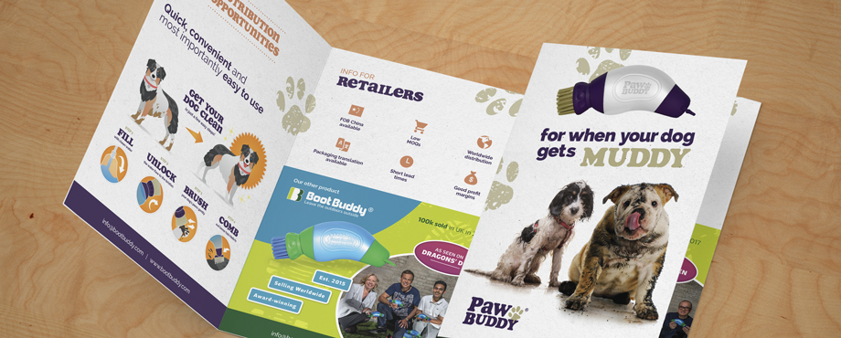 Paw Buddy promotional booklet designed by Pad Creative