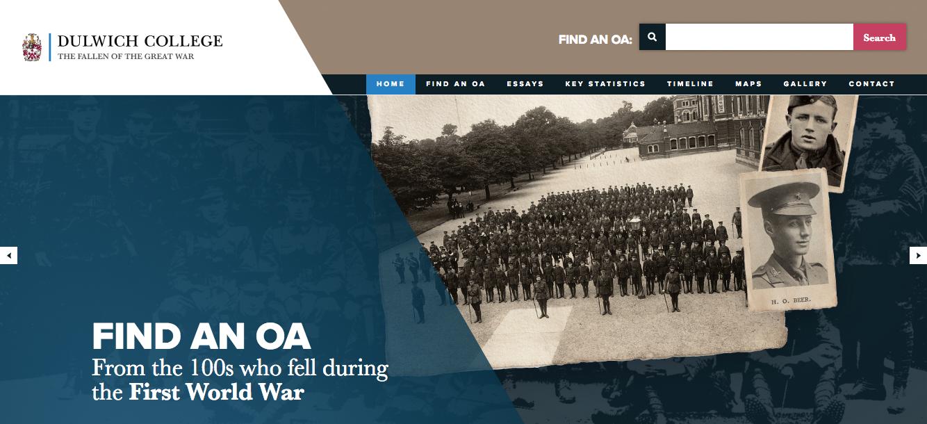 War website brings history to life