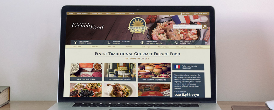 The Good Food Network website designed and built by web developers Pad Creative