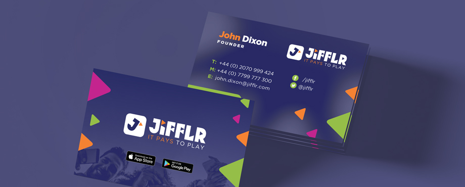 Jifflr stationery created by design agency pad creative