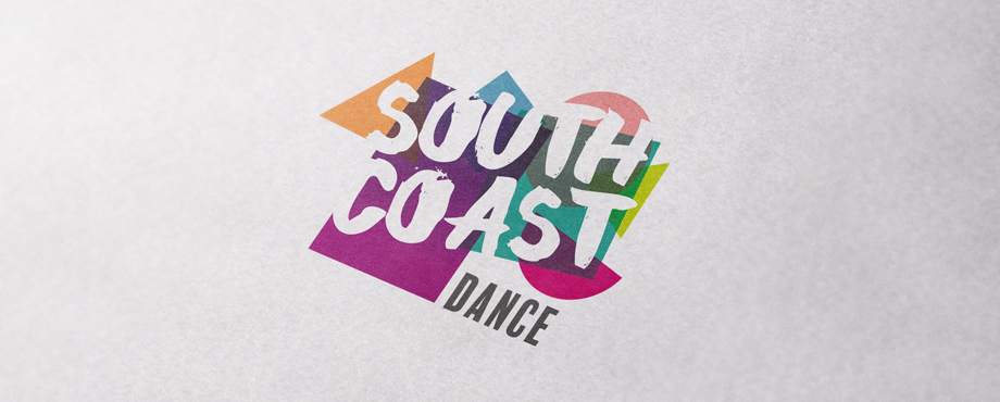 South Coast Dance branding designed by brand agency Pad Creative