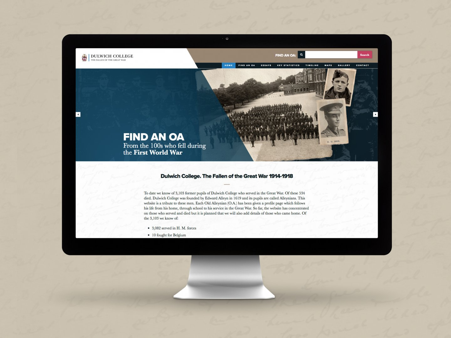 Dulwich College Fallen of the Great War Website - Home