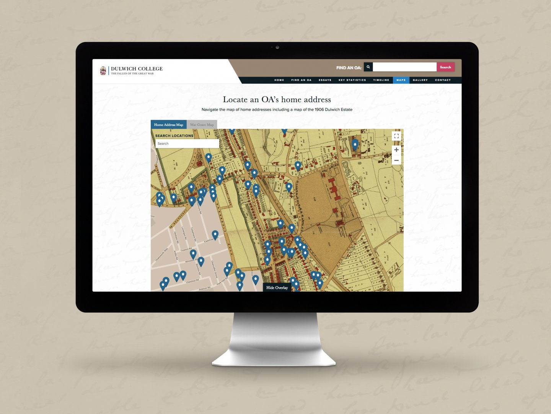 Dulwich College Fallen of the Great War Website - Map