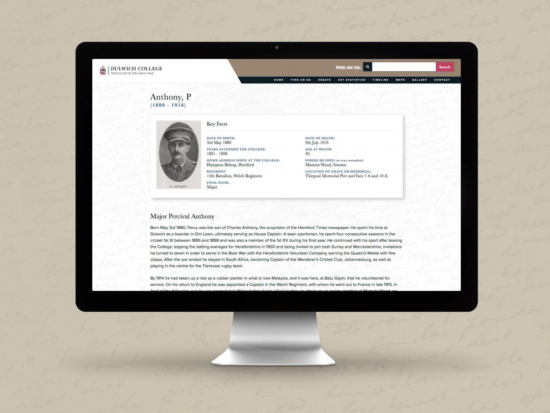 Dulwich College Fallen of the Great War Website - Profile