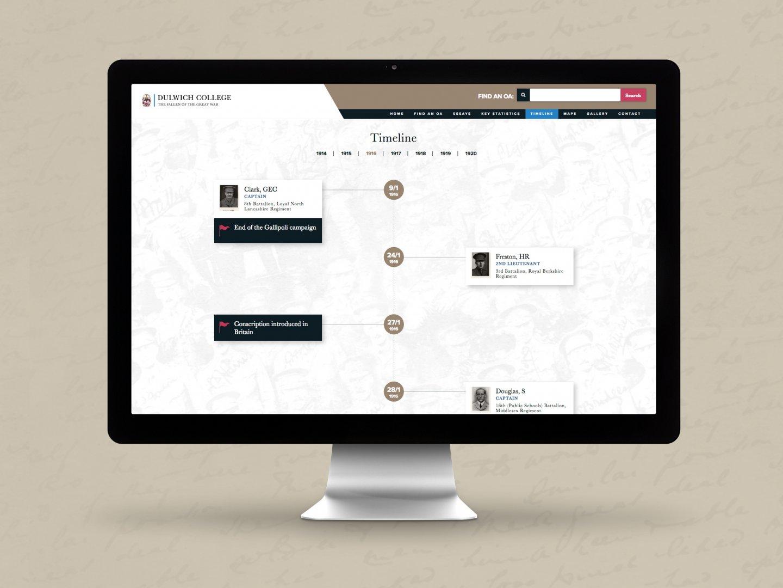 Dulwich College Fallen of the Great War Website - Timeline