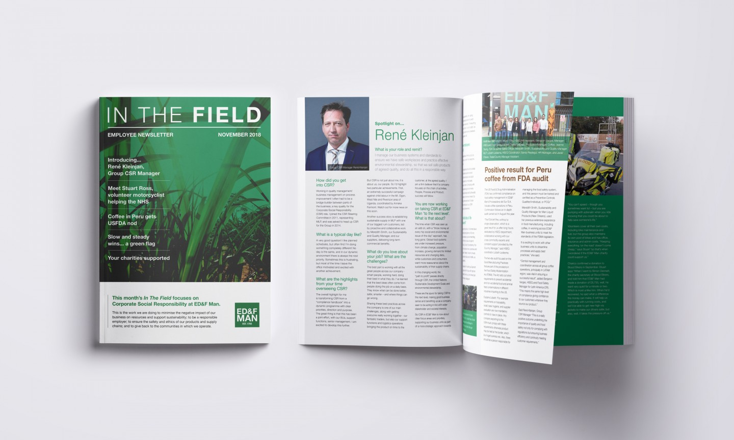 ED&F In The Field newsletter cover and spread