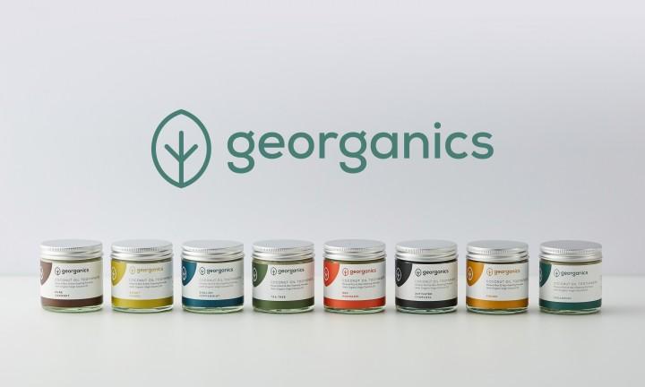 GEOrganics brand design - toothpaste jars