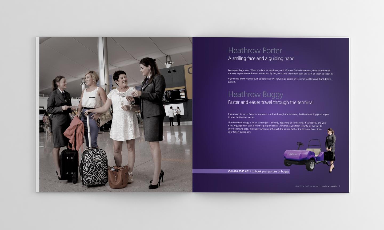 Spread from the Heathrow Brochure