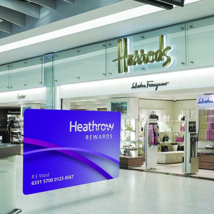 Heathrow Brochure Image Rewards Card outside Harrods