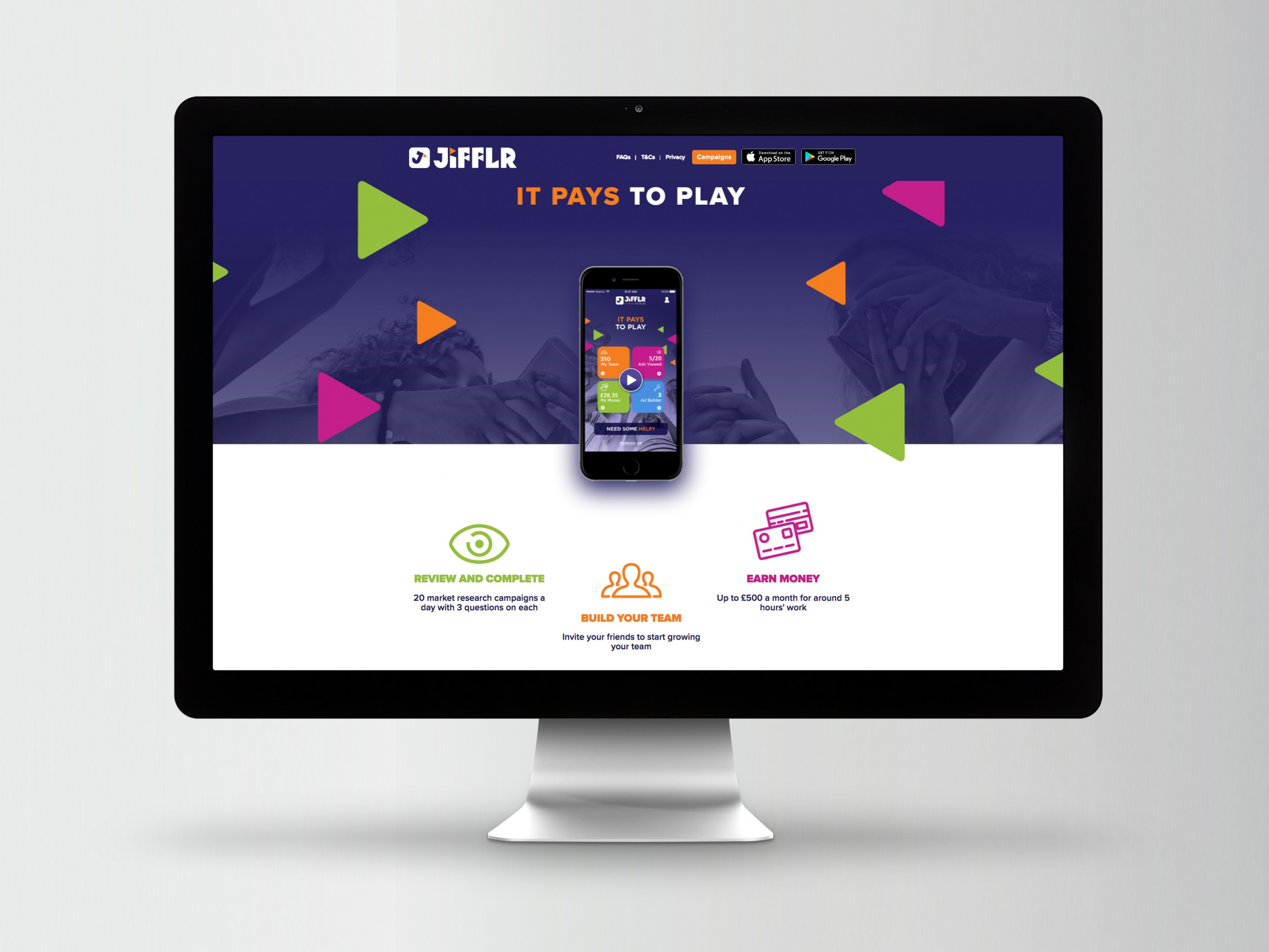 Jifflr Website Design - Home