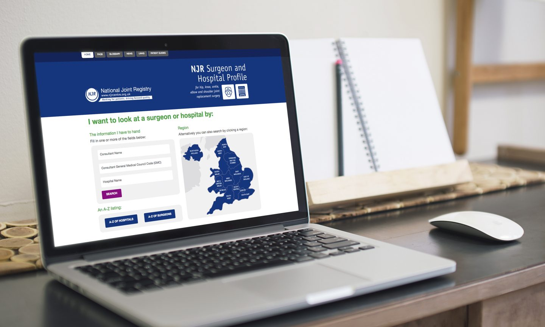 National Joint Registry website design
