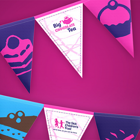 The Sick Children's Trust - Big Chocolate Tea Bunting Design