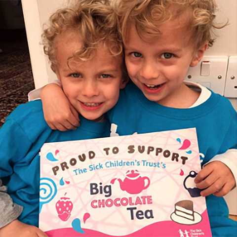 The Sick Children's Trust - Big Chocolate Tea print design