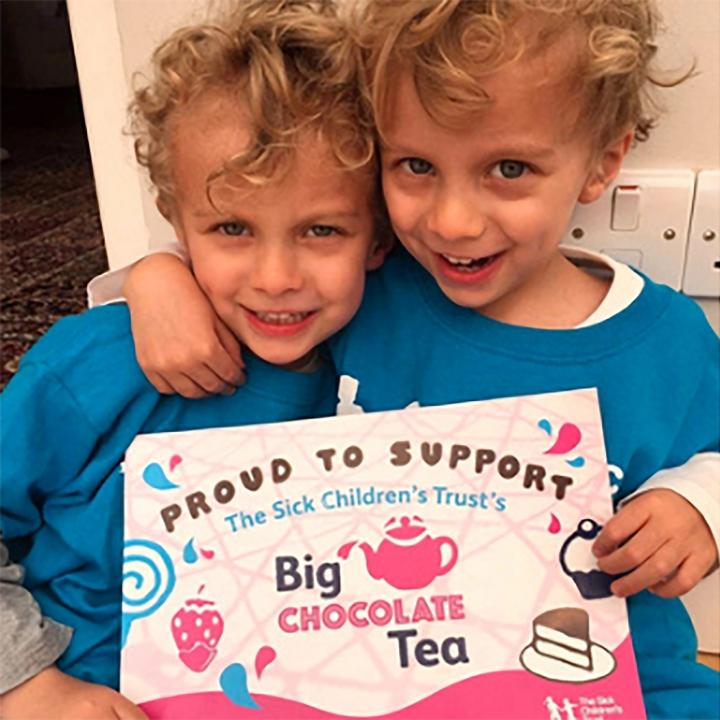 The Sick Children's Trust - Big Chocolate Tea certificate design