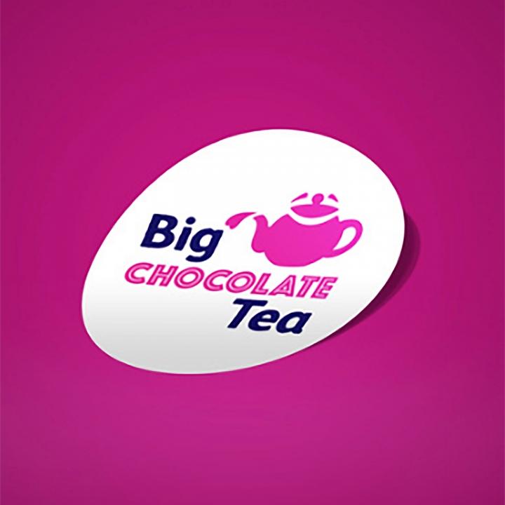 The Sick Children's Trust – Big Chocolate Tea sticker design