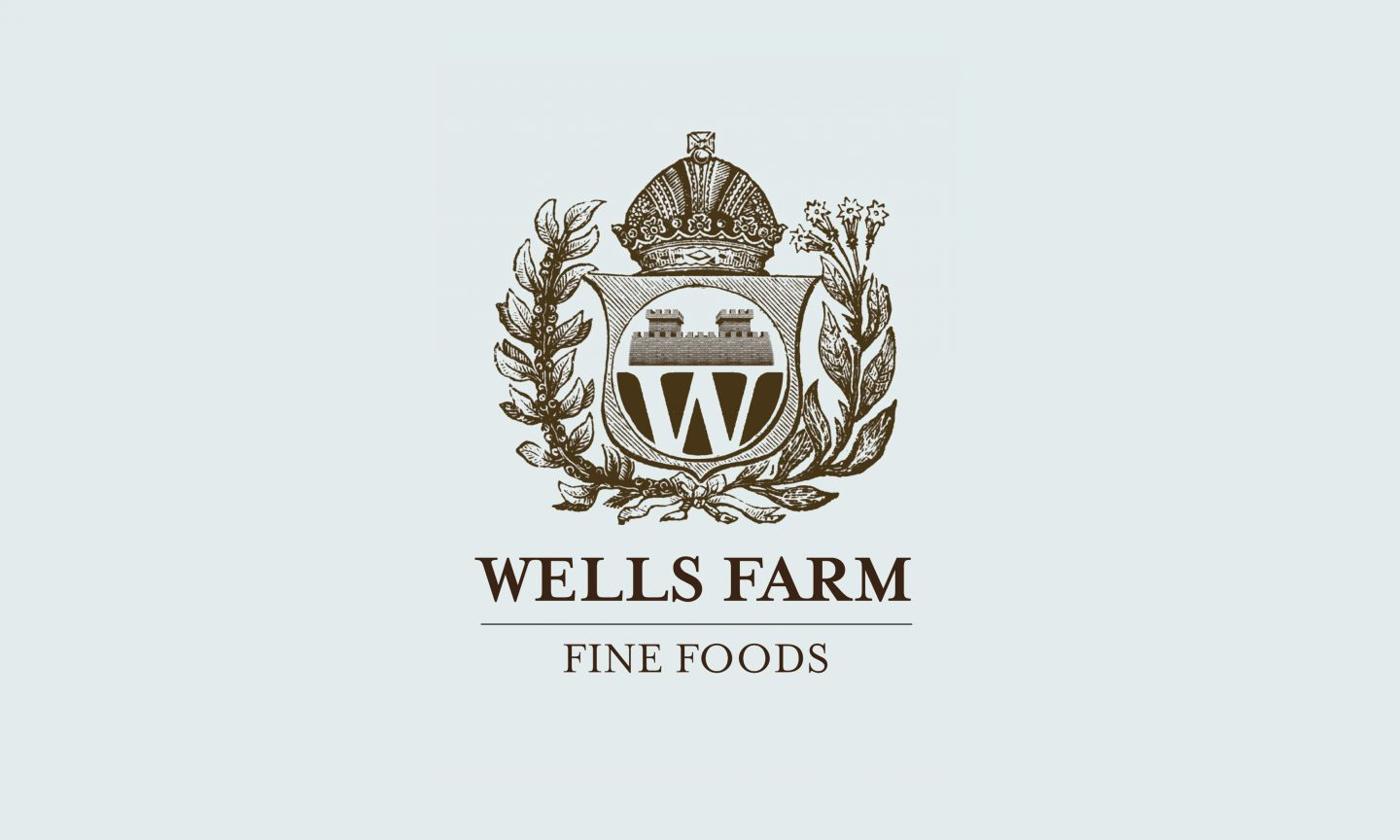 Wells Farm Fine Foods Logo design
