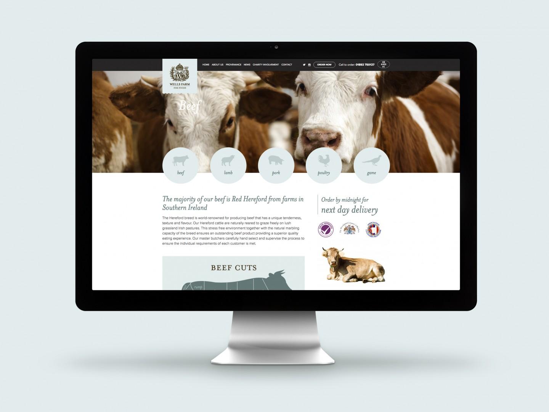 Wells Farm Fine Foods Website Beef