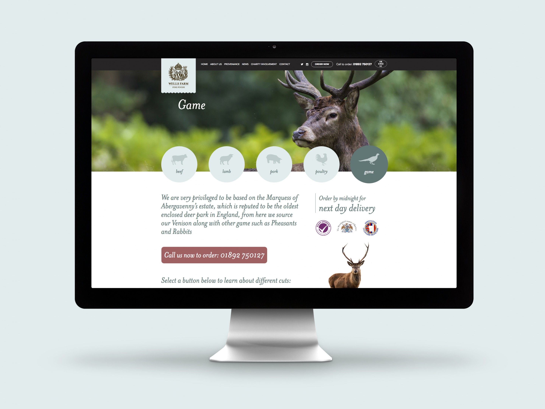 Wells Farm Fine Foods Website Game