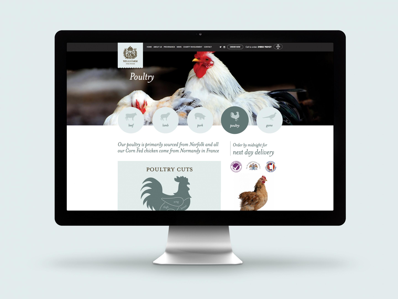 Wells Farm Fine Foods Website Poultry