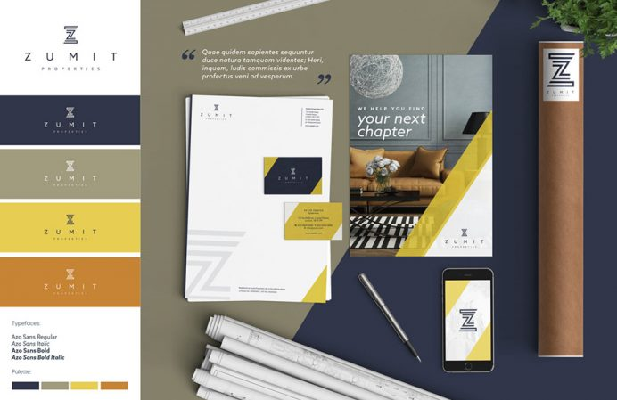 Zumit brand board by Pad Creative, a Brand Design Agency in South London