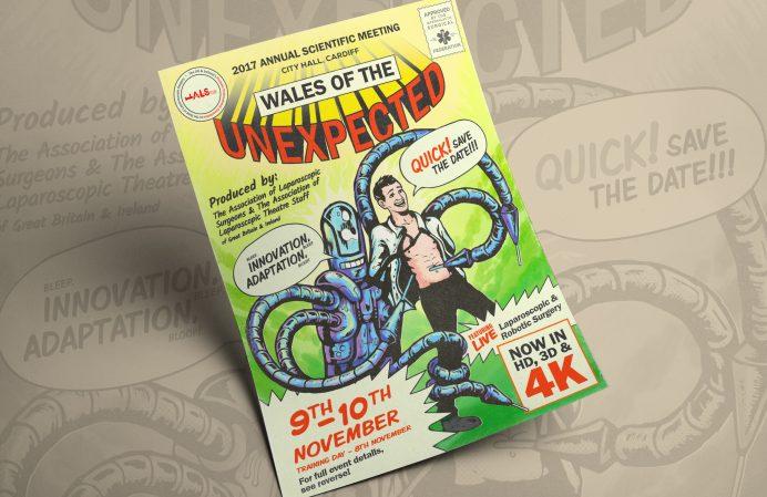 ALSGBI Laproscopic Event Surgery promo flyer and illustration