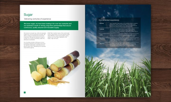 ED&F Man brochure double page spread design 4