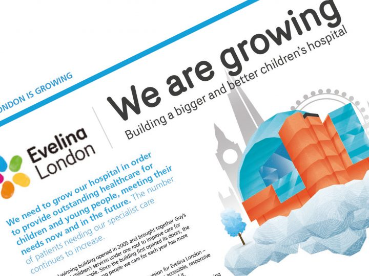 Evelina London Children's Hospital - We Are Growing campaign design