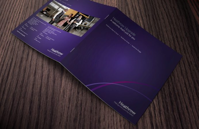 Heathrow Airport corporate brochure design