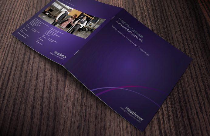 Heathrow Airport corporate brochure design