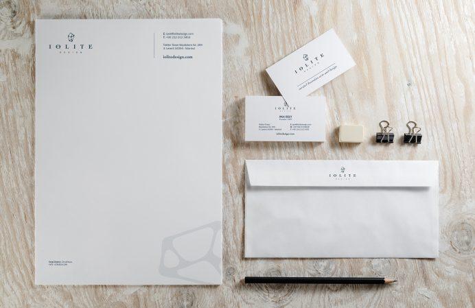 Iolite Stationery Design - business cards, letterhead, envelopes