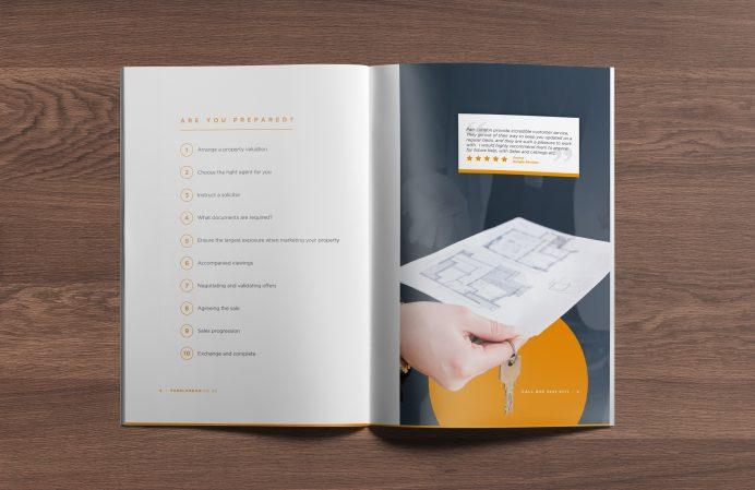 PARR London brochure design spread 1
