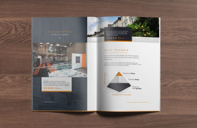 PARR London brochure design spread 2