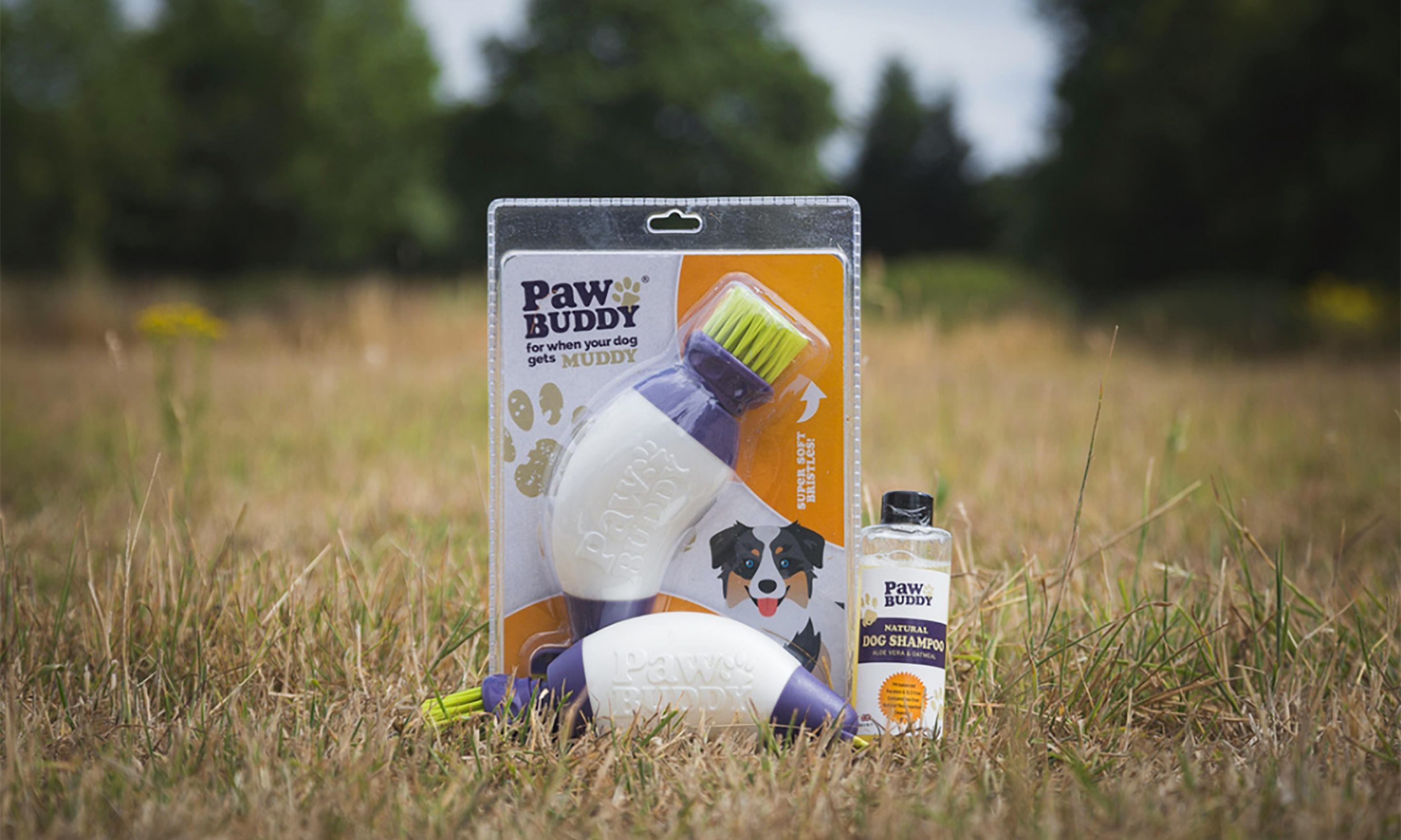 Paw Buddy Packaging Design Photograph in Field