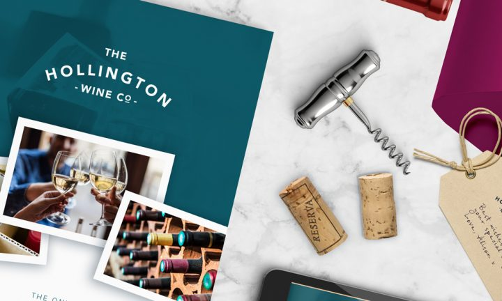 The Hollington Wine Co branding design