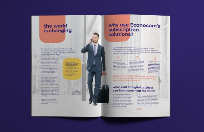 Econocom Brochure design - spread 1