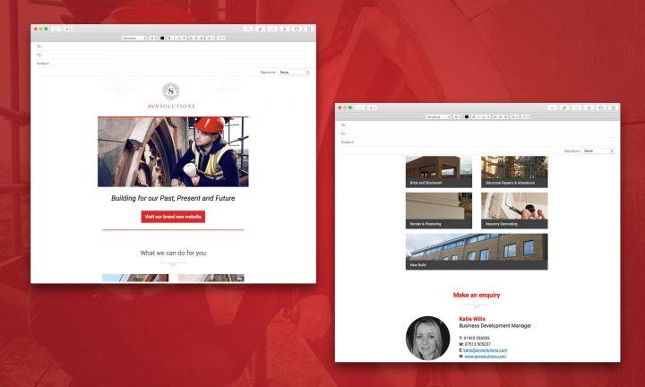 Email Marketing design AVVS
