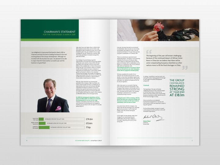 ECO Animal Health Group 2019 Annual Report Chairman's Statement