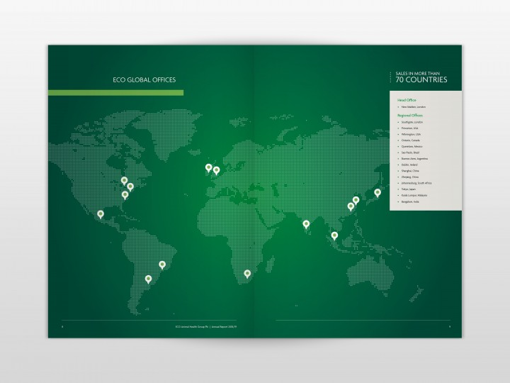 ECO Animal Health Group 2019 Annual Report Map Spread