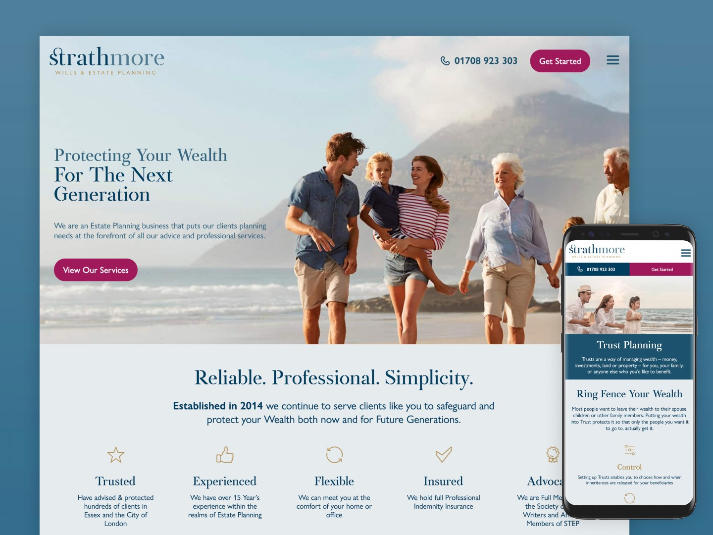 Website design and build - Strathmore Wills and Estate Planning