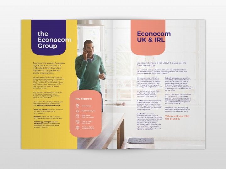 Econocom Brochure Design spread