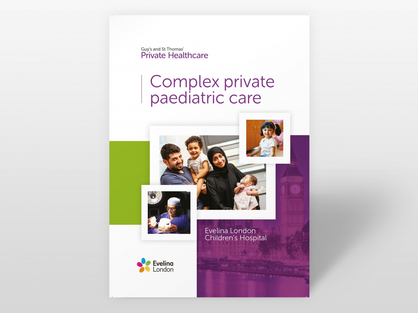 Guy's and St Thomas' Private Healthcare Brochure Design - Cover