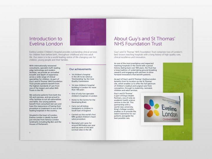 Guy's and St Thomas' Private Healthcare Brochure Design - Spread