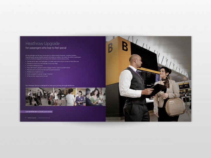 Heathrow Brochure Design Spread