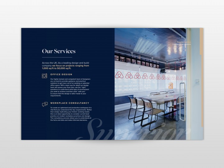 Superior Interiors Brochure Design Inside page