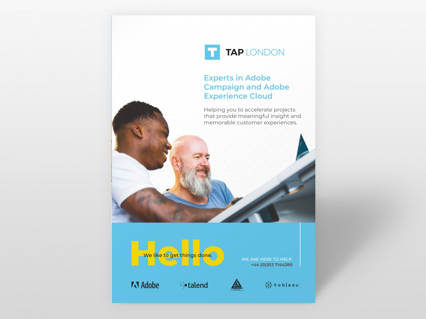 TAP London Brochure Design Cover
