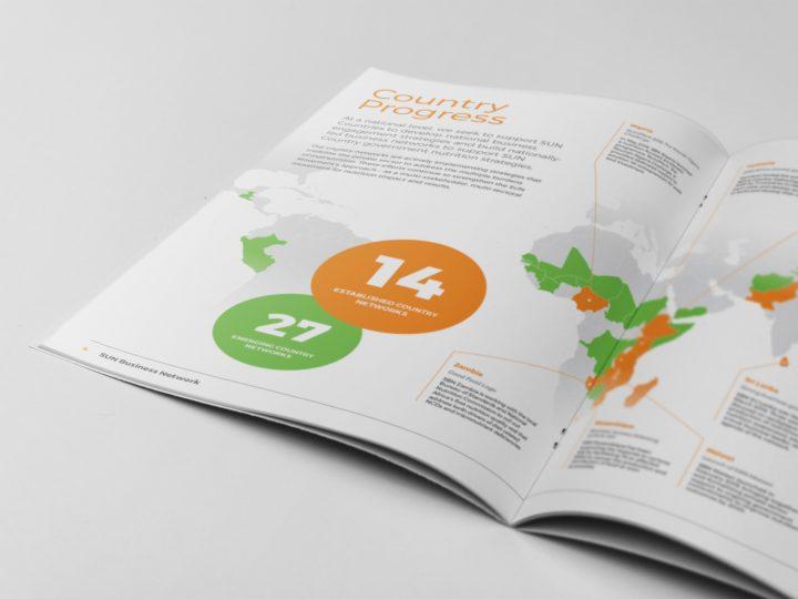 GAIN Annual Report Designed by Pad Creative - spread