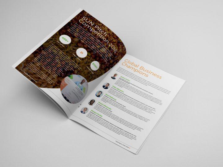 Annual Report Design for GAIN - spread