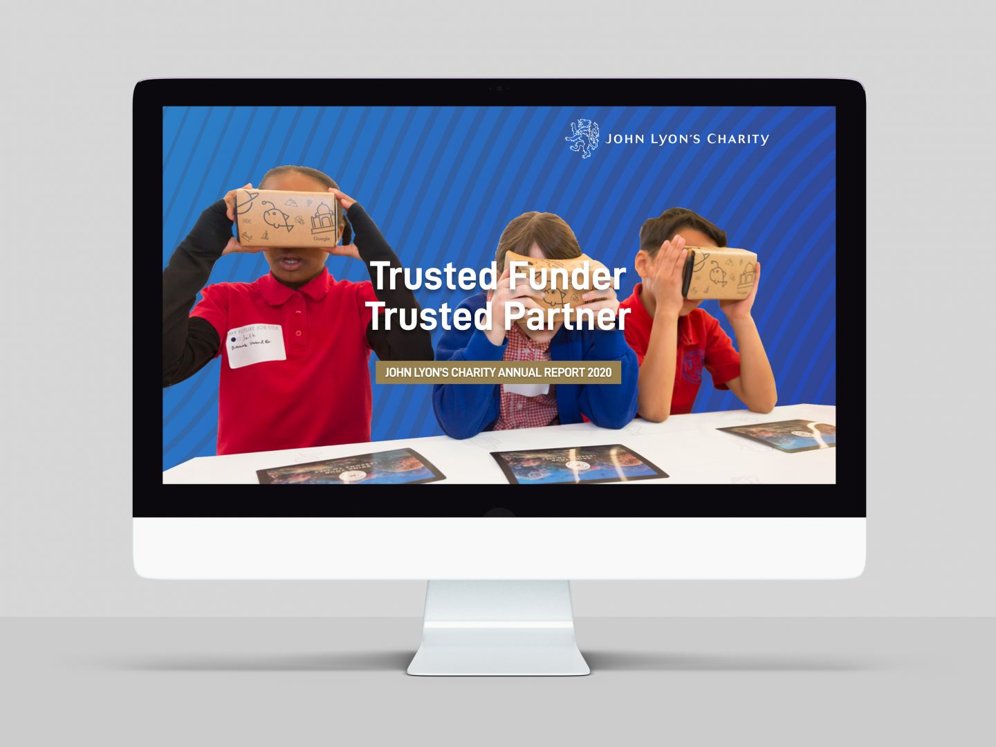 Online Annual Report design and build for John Lyon's Charity