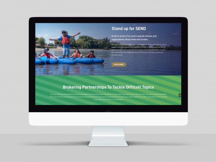 Web-based Annual Report design and build for John Lyon's Charity